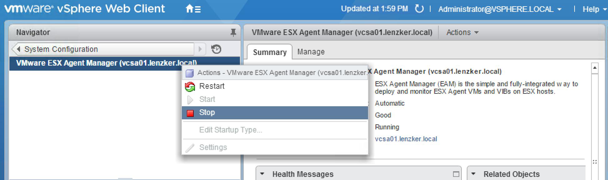 NSX Host preparation failure  Restart EAM – vLenzker