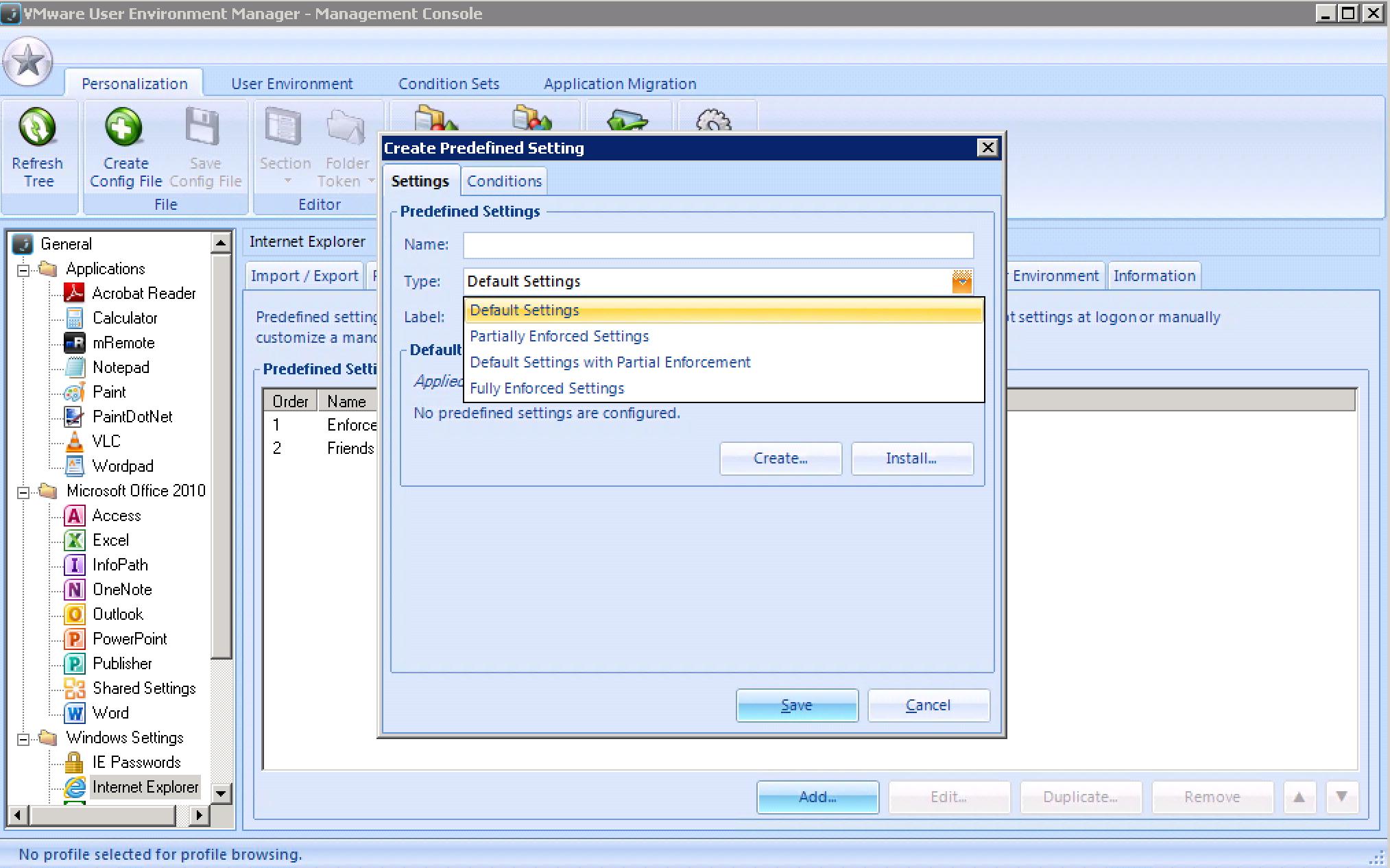 Afbeeldingsresultaat voor UEM predefined settings