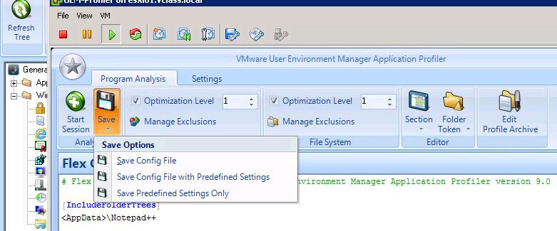 VMware User Environment Manager #UEM: Predefined settings