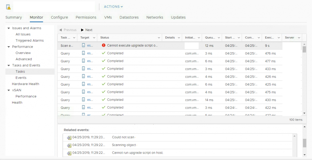vSphere Update Manager Troubleshooting: Could not scan ESX